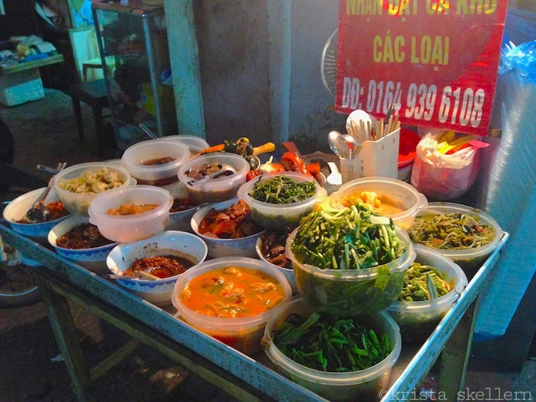 Street Food in Hanoi Vietnam