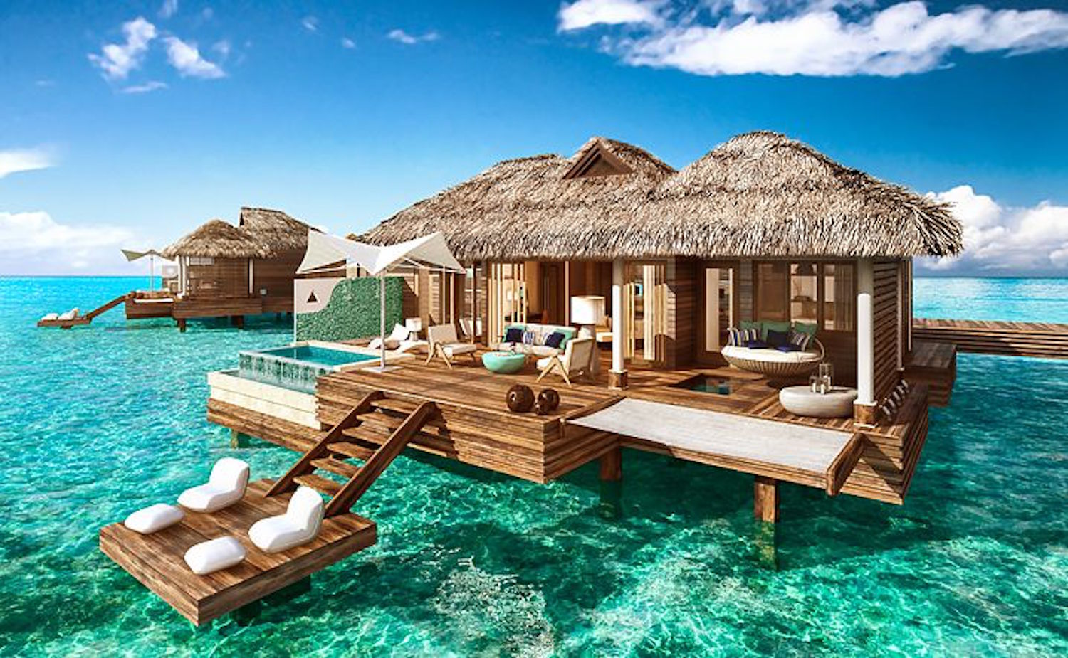 These Over The Water Villas Are A First Of Its Kind In Caribbean Complete With Private Infinity Pool Reminiscent Tahiti Style Bungalow
